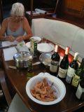 Sail, wine & shrimp