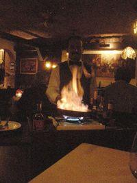86 Crepes Suzette flambé at the table