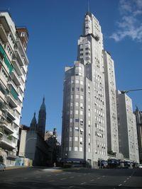 City scenes, Plaza San Martin, seen from