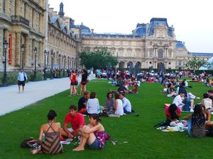41 Evening at the Louvre