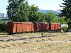 88 Old rail cars