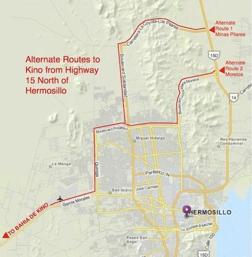 Alternate Routes to Kino map